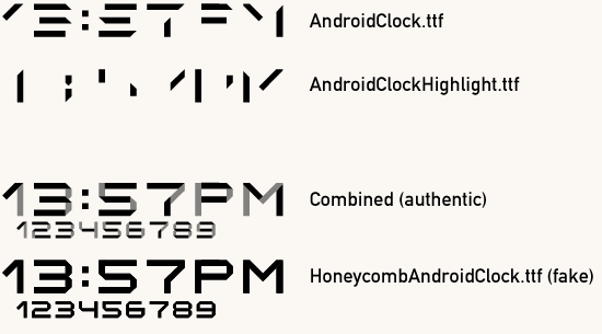 Font Honeycomb Digital Clock Font Nexus One